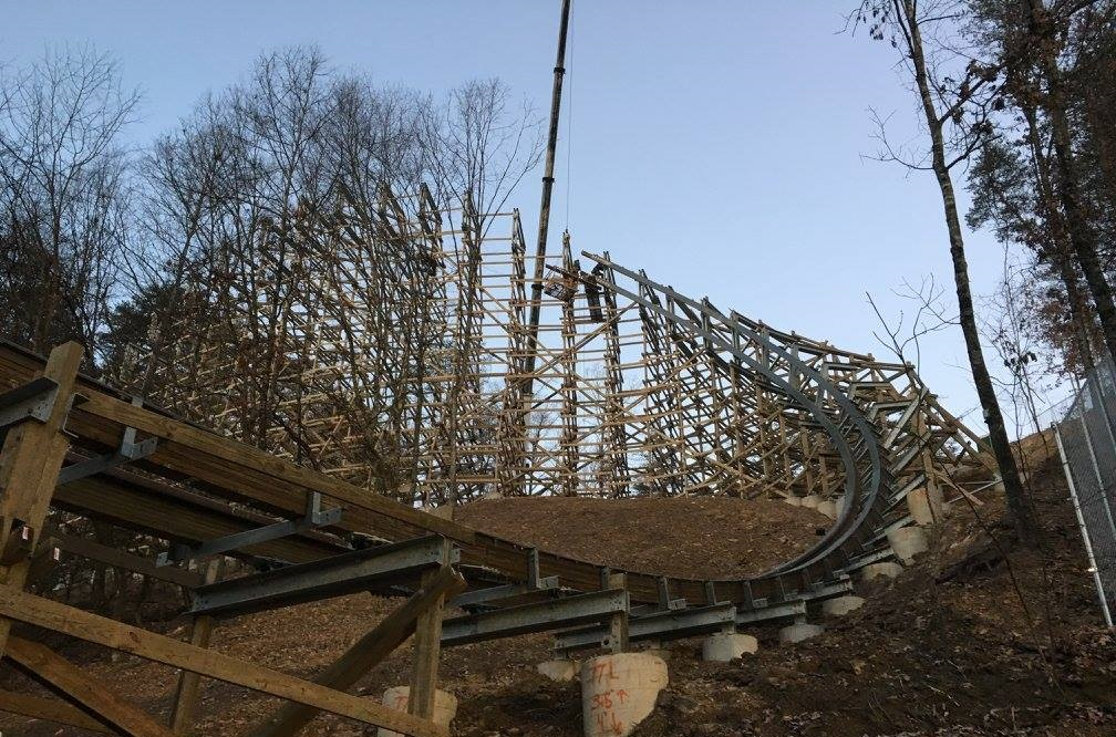 construction-of-lightning-rod-coaster-at-dollywood